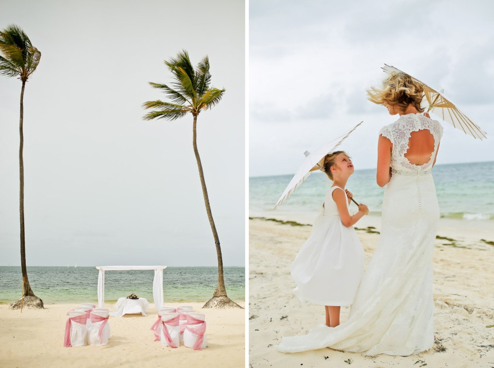 Wedding at dreams palm beach allie chris punta cana for Wedding dresses palm beach
