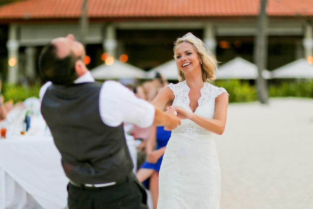 Wedding Couple at Dreams Palm Beach