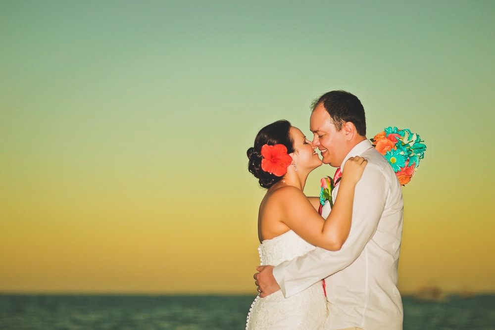 Wedding couple at Dreams in Punta Cana