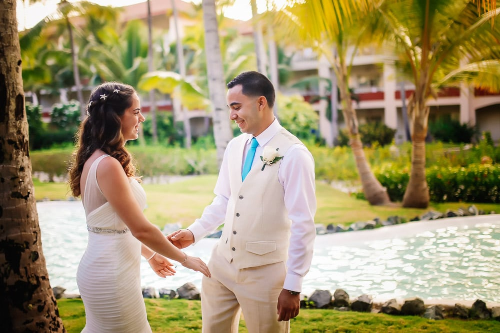 Wedding Photos - First Look at Punta Cana