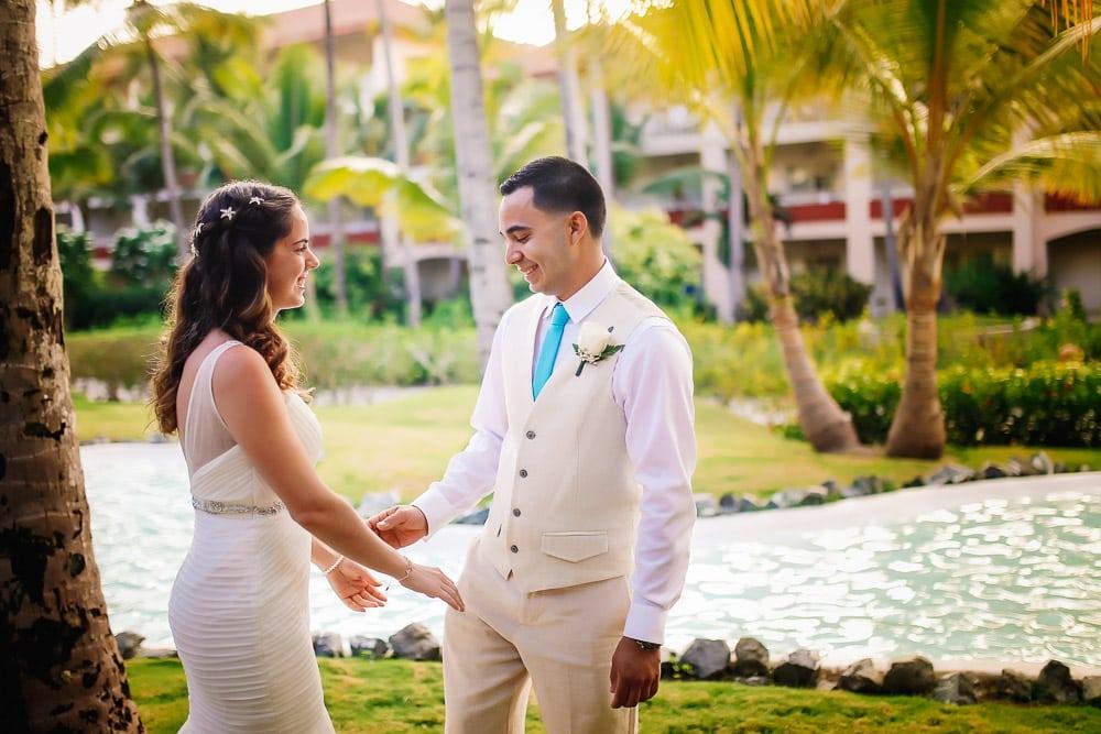Wedding Photos - First Look at Punta Cana