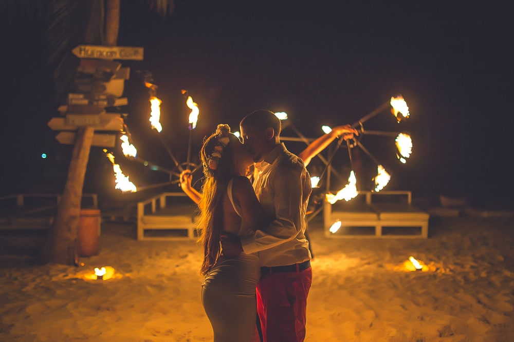 Fire shows in Punta Cana Wedding