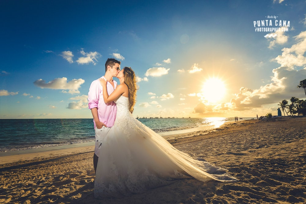Punta Cana Trash the Dress at Jellyfish Restaurant
