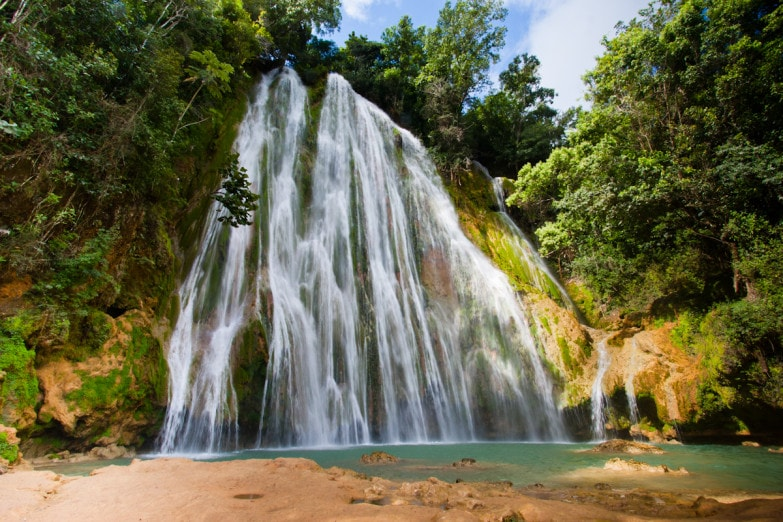 Limon Waterfall in Dominican Republic