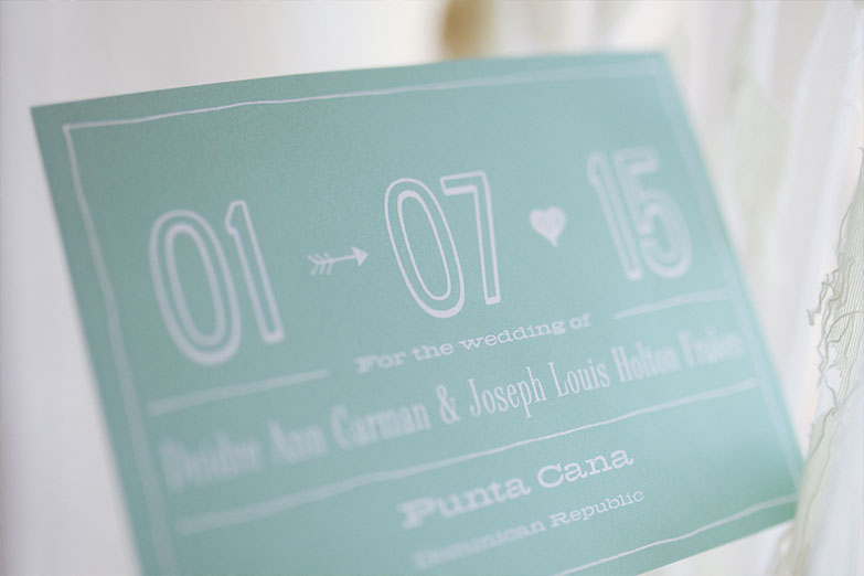 Wedding Invite for Punta Cana Wedding