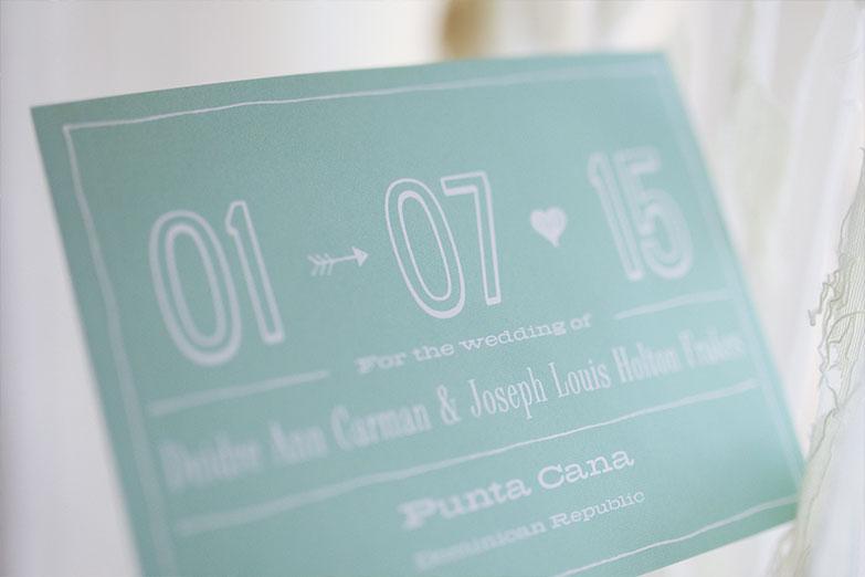 Wedding Invite for Punta Cana Wedding
