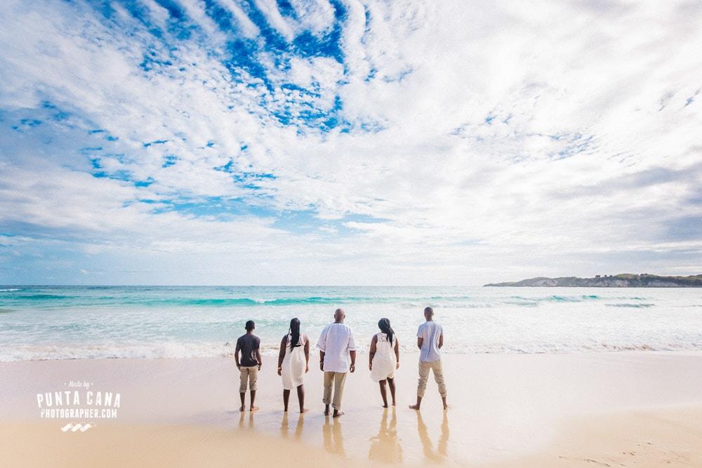 Family Photoshoot in Punta Cana at Macao Beach