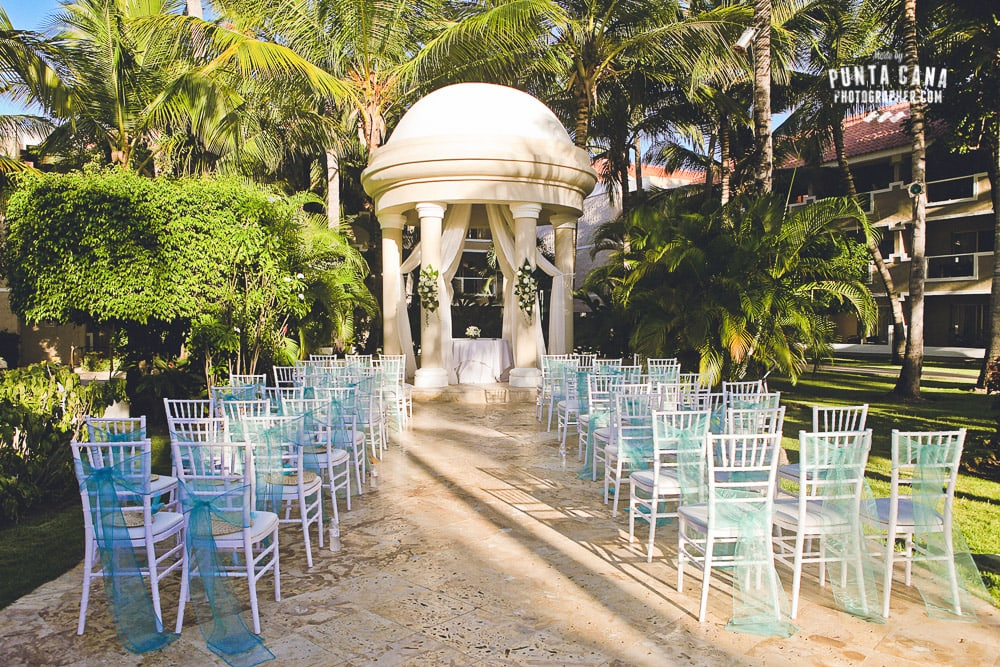 Dreams Palm Beach Wedding Setup