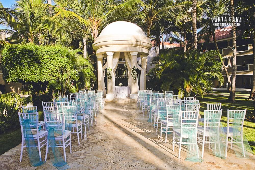 Dreams Palm Beach Wedding Setup
