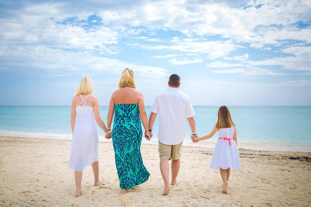 Family Photoshoot at Playa Turquesa Ocean Club in Punta Cana