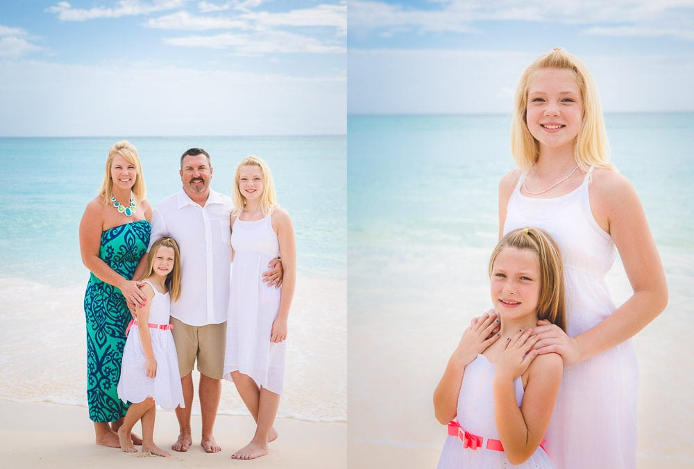 Family Photoshoot at Playa Turquesa Ocean Club in Punta Cana