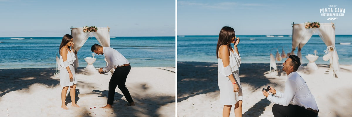 surprise engagement photos