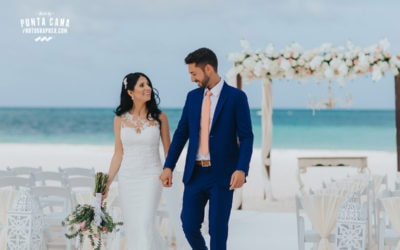 White, Gold & Green Wedding at Huracan Cafe in Punta Cana - Dani & Michael
