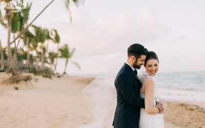 Emotional First Look at Excellence El Carmen Wedding - Sarah & Rommel