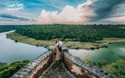 Altos de Chavon Photoshoot + First Look - Brittany & Pat