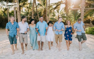 Family Photo Shoot + Surprise Engagement in Punta Cana