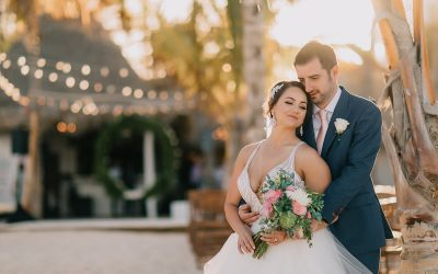 Golden-Hour Ceremony at Huracan Cafe – Michelle & Alex