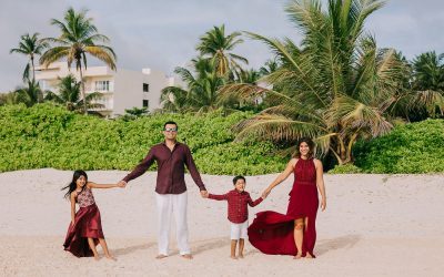 Family Photo Session in Punta Cana - The Pallavi Family