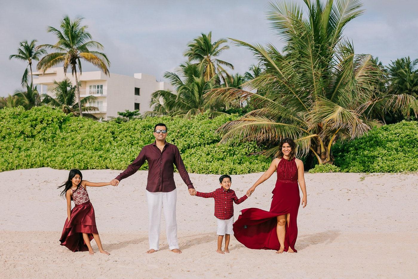 Family Photo Session in Punta Cana - The Pallavi Family