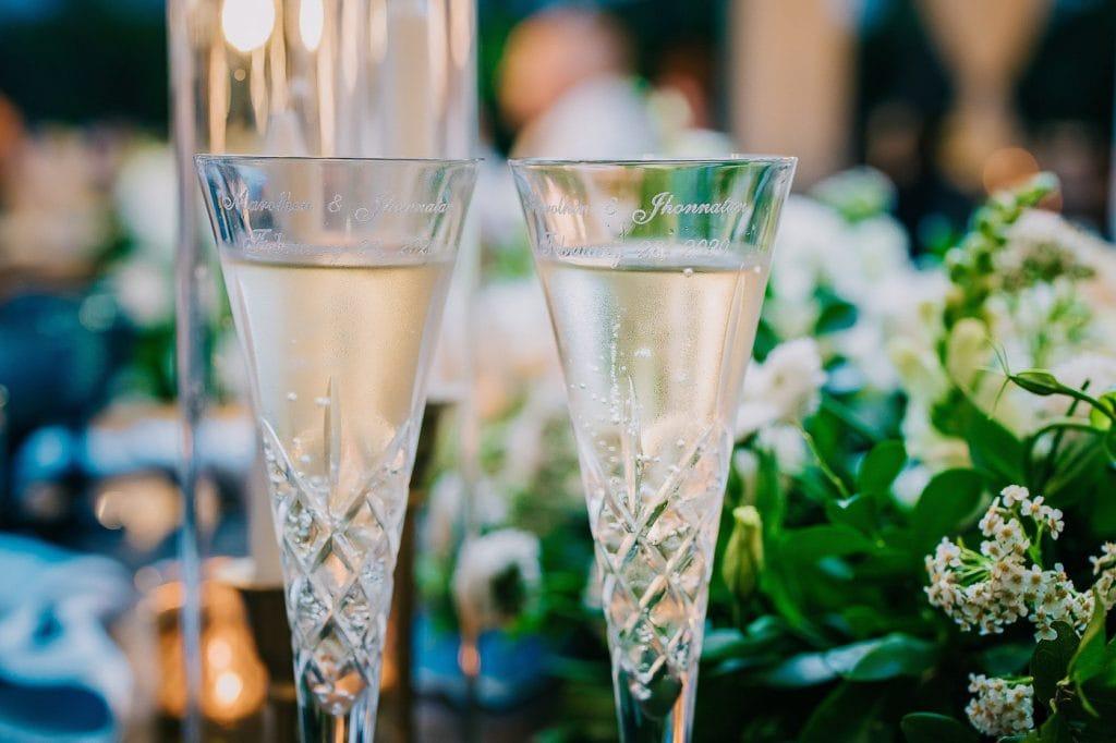 Champagne glasses at a Punta Cana Wedding