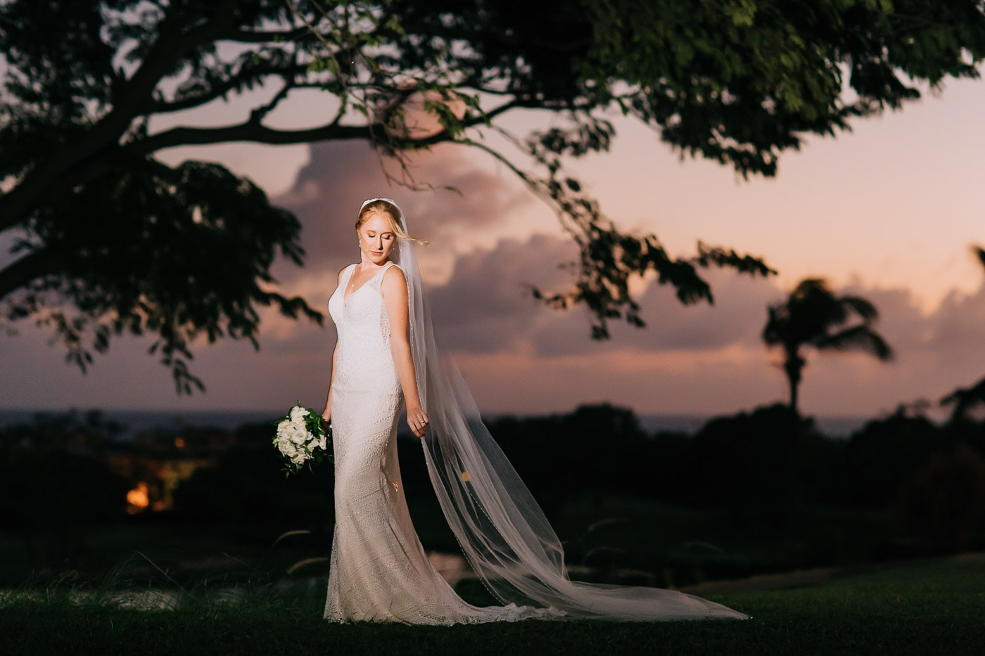 nighttime wedding ceremony