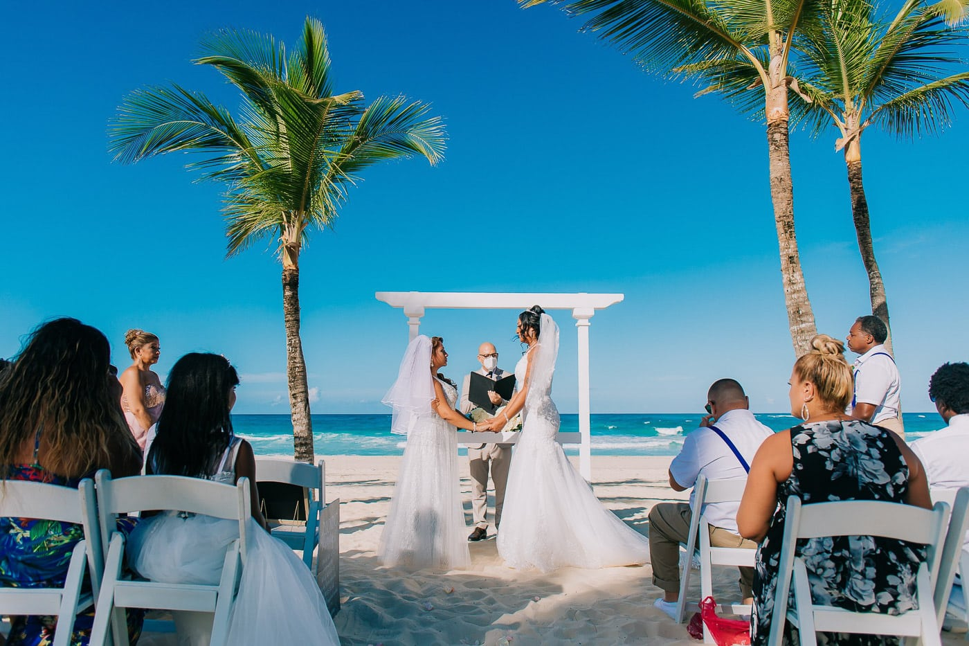 same-sex wedding at hard rock punta cana