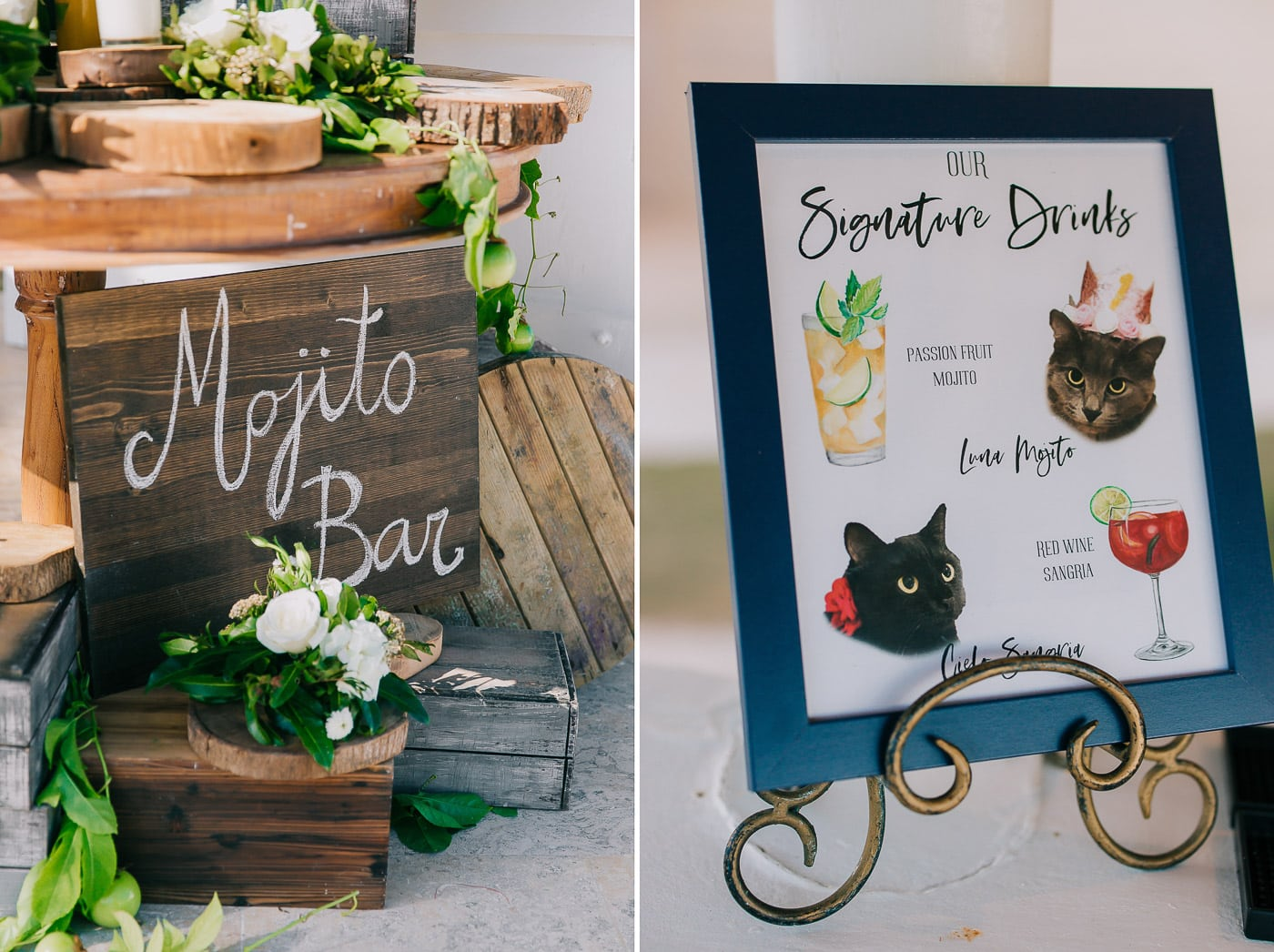 wedding cocktail signs
